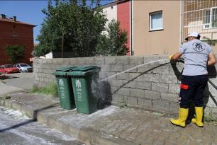 Çöp Konteynırları Temizleniyor