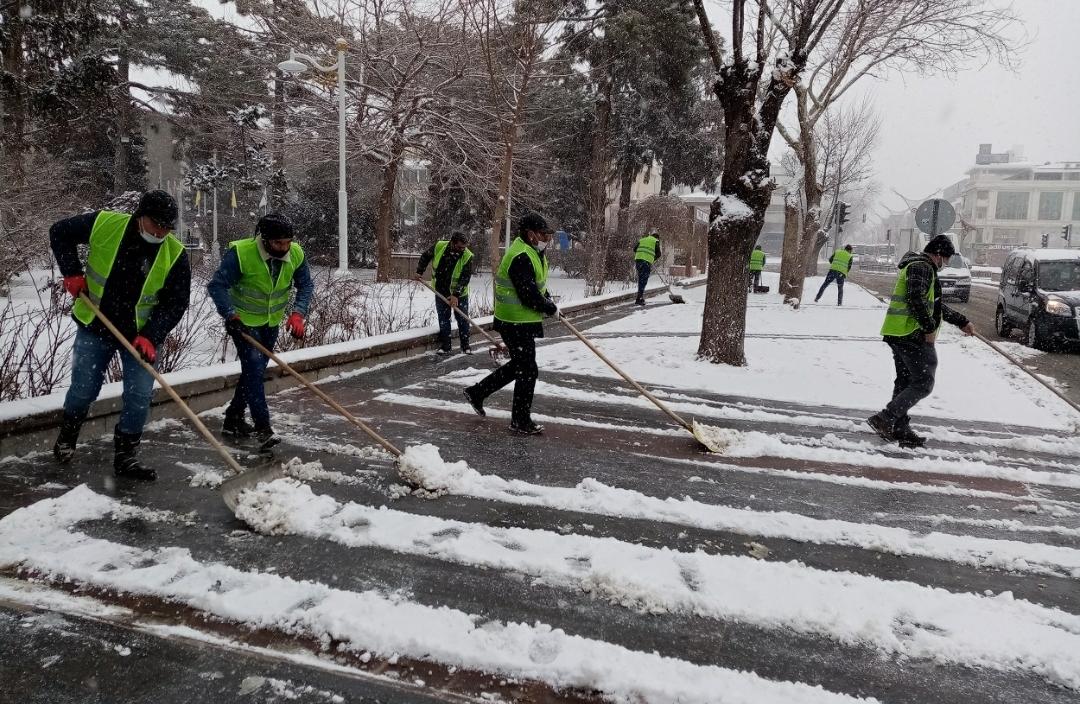 Kar Kürüme Çalışmaları Devam Ediyor