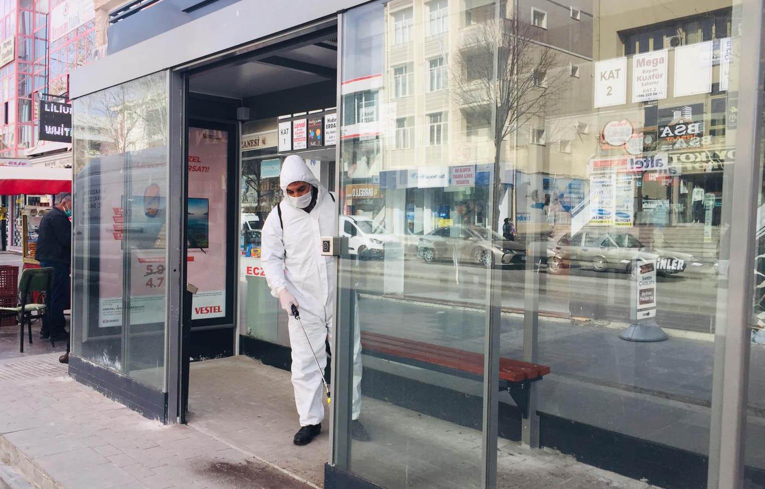 Erzincan Belediyesi Salgınla Mücadelesini Sürdürüyor