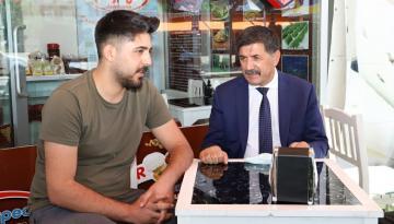 Başkan Aksun'un Esnaf Ziyaretleri Sürüyor