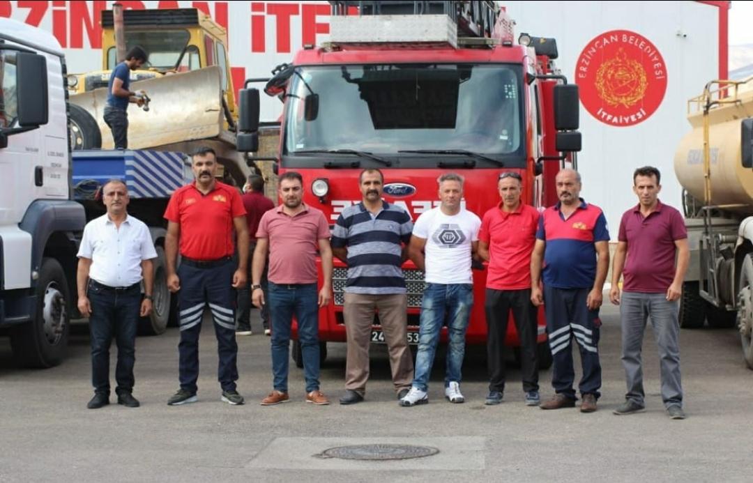 Erzincan Belediyesi ekipleri destek için Manavgat'a hareket etti
